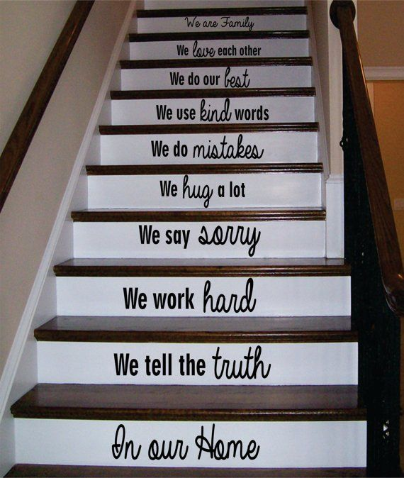 Best In Our Home Version 3 Stairs Decor Decal Sticker Wall 400 x 300