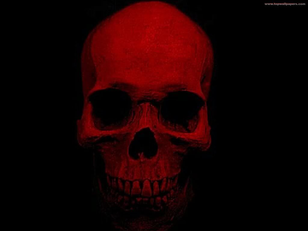 Red skullooooh this is creepacious red pinterest
