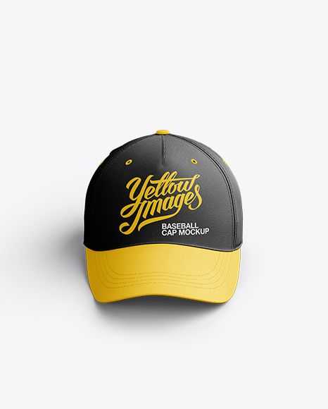 Download Baseball Cap Mockup Front View In Apparel Mockups On Yellow Images Object Mockups Design Mockup Free Clothing Mockup Mockup