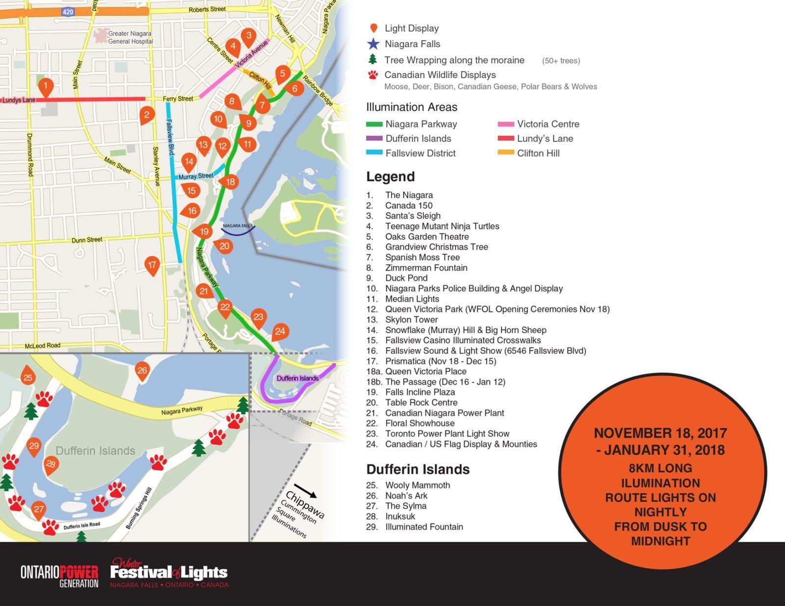 Niagara Festival Of Lights Nf Canada Festival Lights