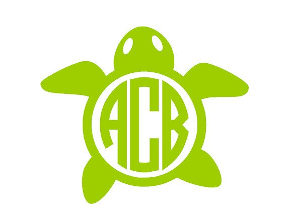 Download Sea turtle with monogram | U Can Play 2 Designs Products ...