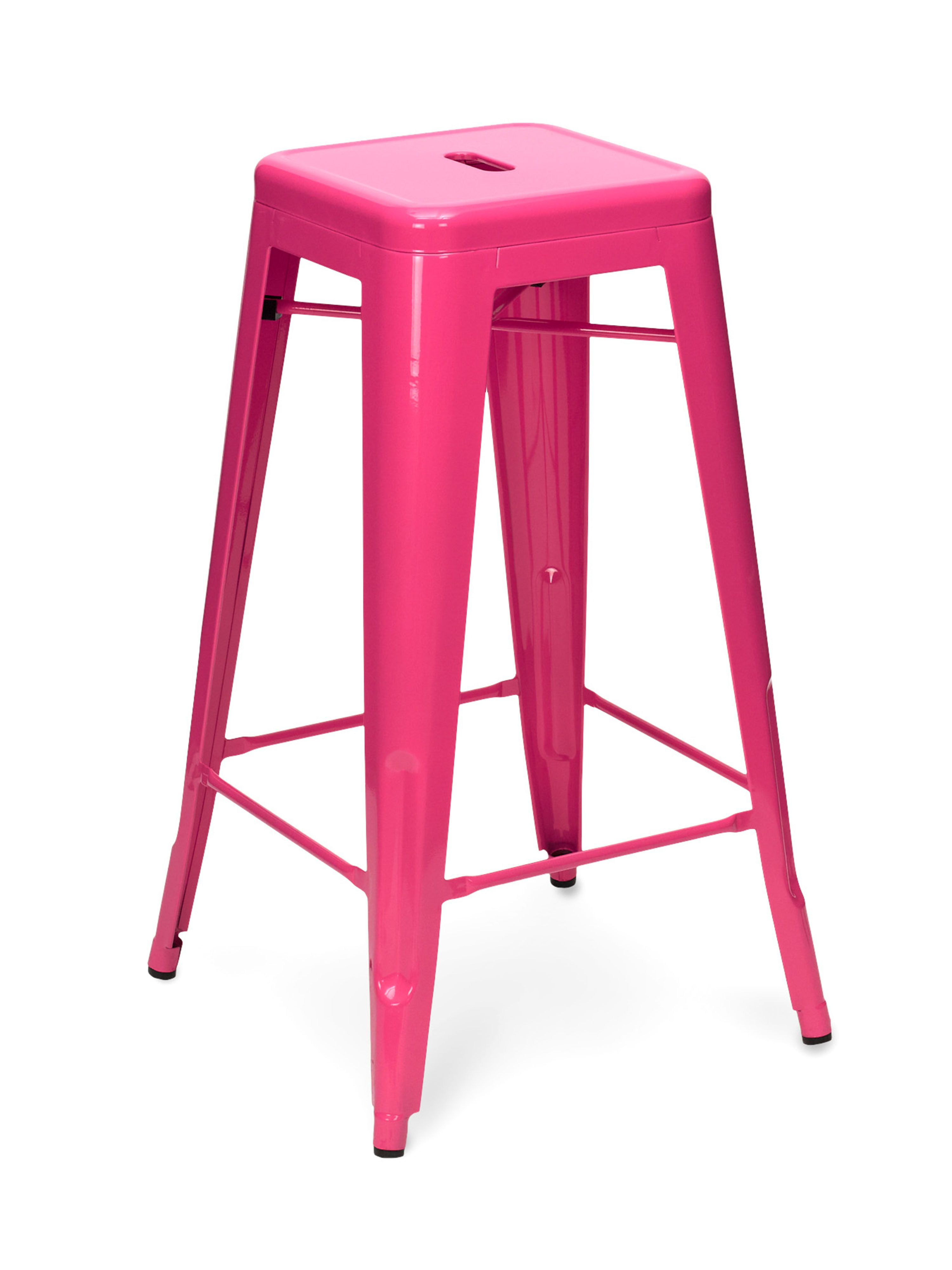 Add A Hot Pink Bar Stool For An Extra Kick Of Color Custom Painted 24 158 Sugarscout Etsy Countryliving