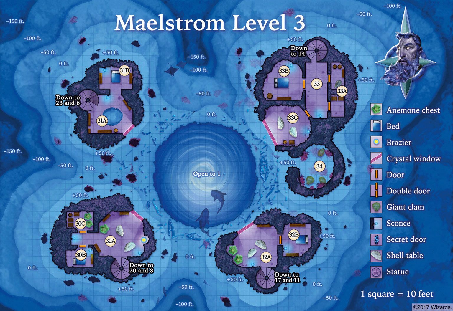 Maelstrom Level 3 sm | MAPS in 2019 | Dungeon maps, Fantasy map