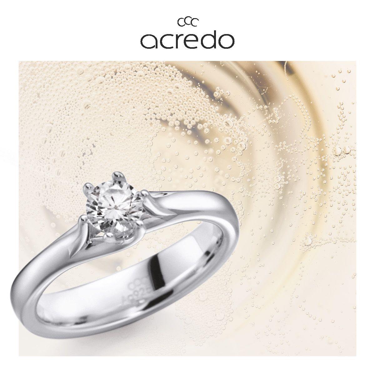 Verlobungsring Zirkonia Skillful Manufacture 925 Sterlingsilber Damen-ring