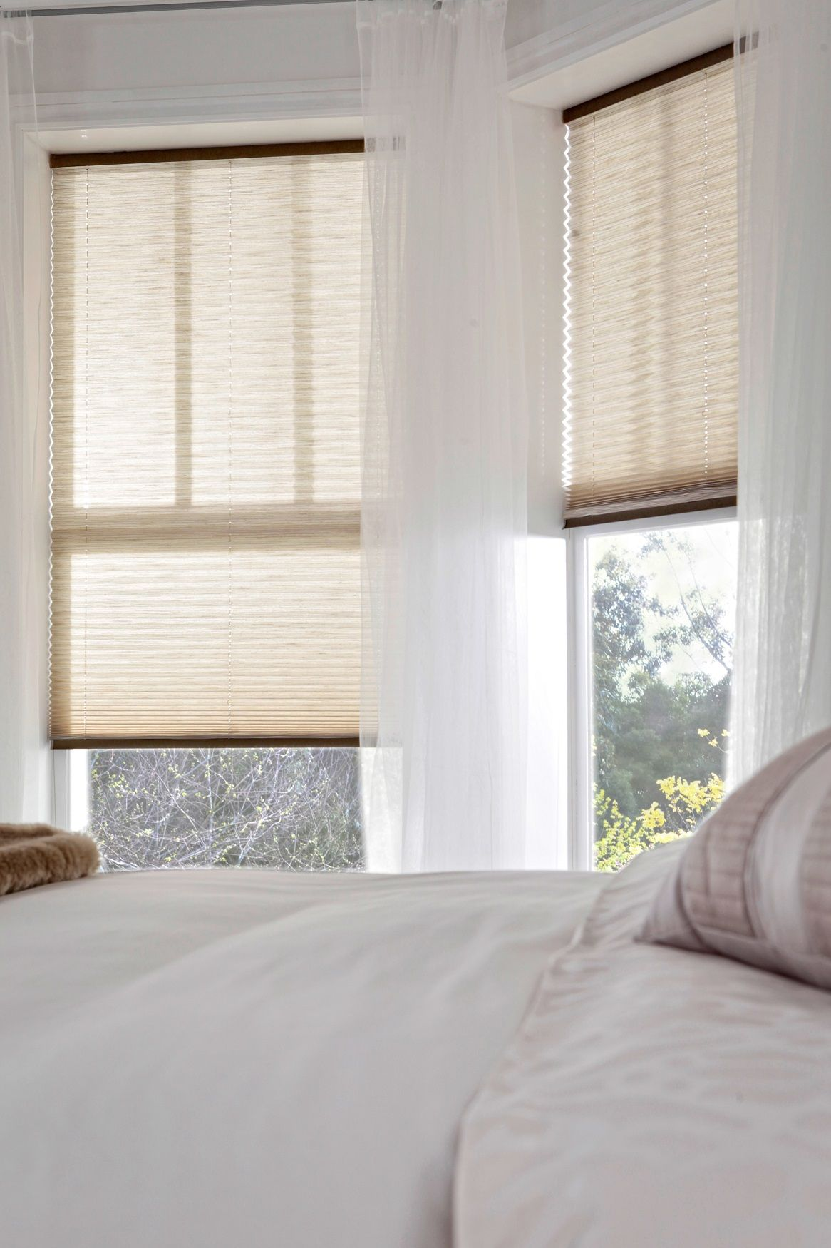 Style Studio Mineral Fawn Pleated Blinds Bedroom Blinds Neutral