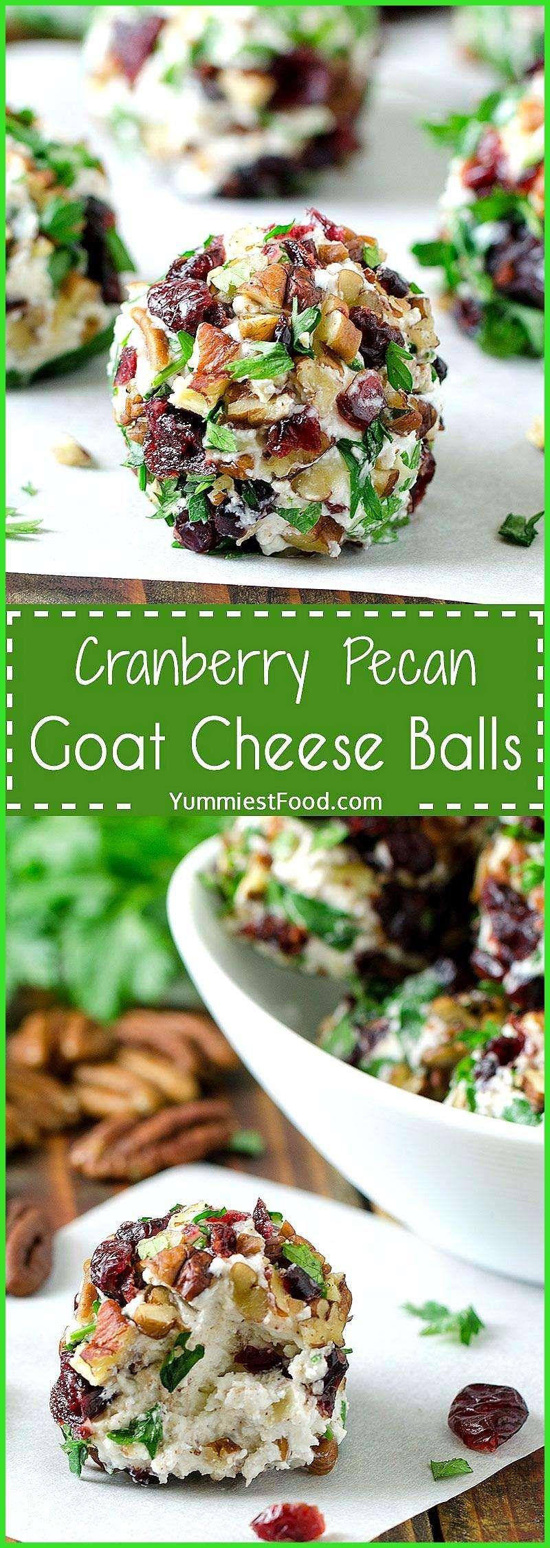 Cranberry Pecan Goat Cheese Balls CRANBERRY PECAN GOAT CHEESE BALLS  Quick easy and totally delicio