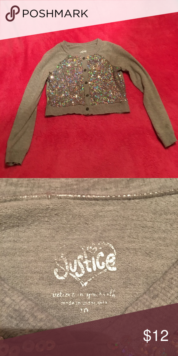 Justice sequin Cardigan Girl's Justice sequin Cardigan. Great condition! Justice Shirts & Tops