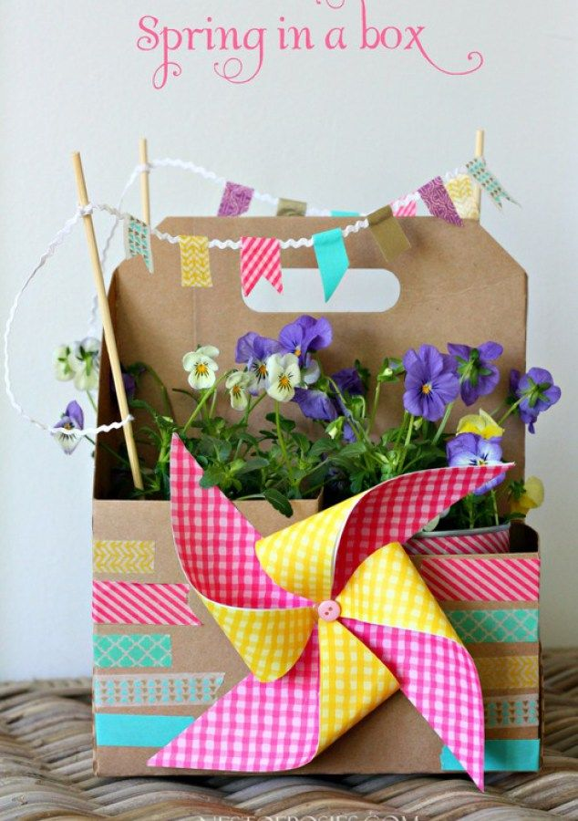 Spring in a box from a sonic drink carrier pinterest sonic spring in a box from a sonic drink carrier fun easter basket idea or teachers gift negle Choice Image