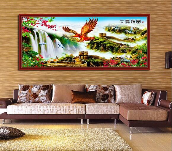 FILOL 5D DIY Diamond Painting Cross Stitch Craft Kit Wall Stickers for Living Room A