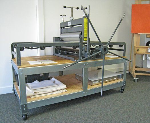 like stand on wheels printing pressstudio spacesart