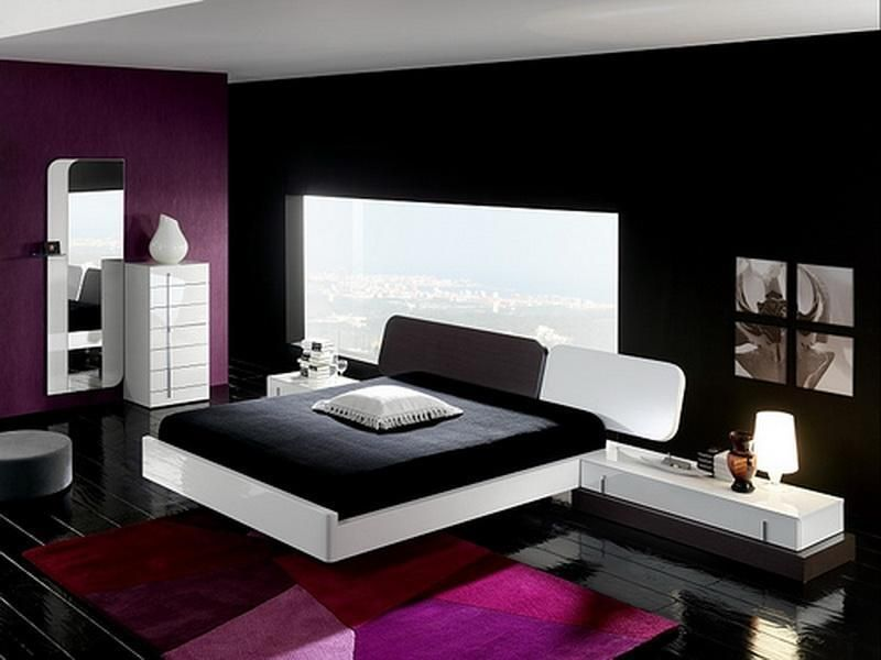 Here is black and white and purple