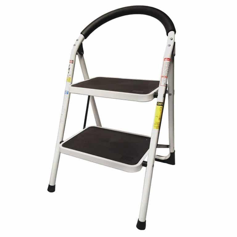 Astounding Step Up Heavy Duty Steel Reinforced Folding 2 Step Ladder Creativecarmelina Interior Chair Design Creativecarmelinacom