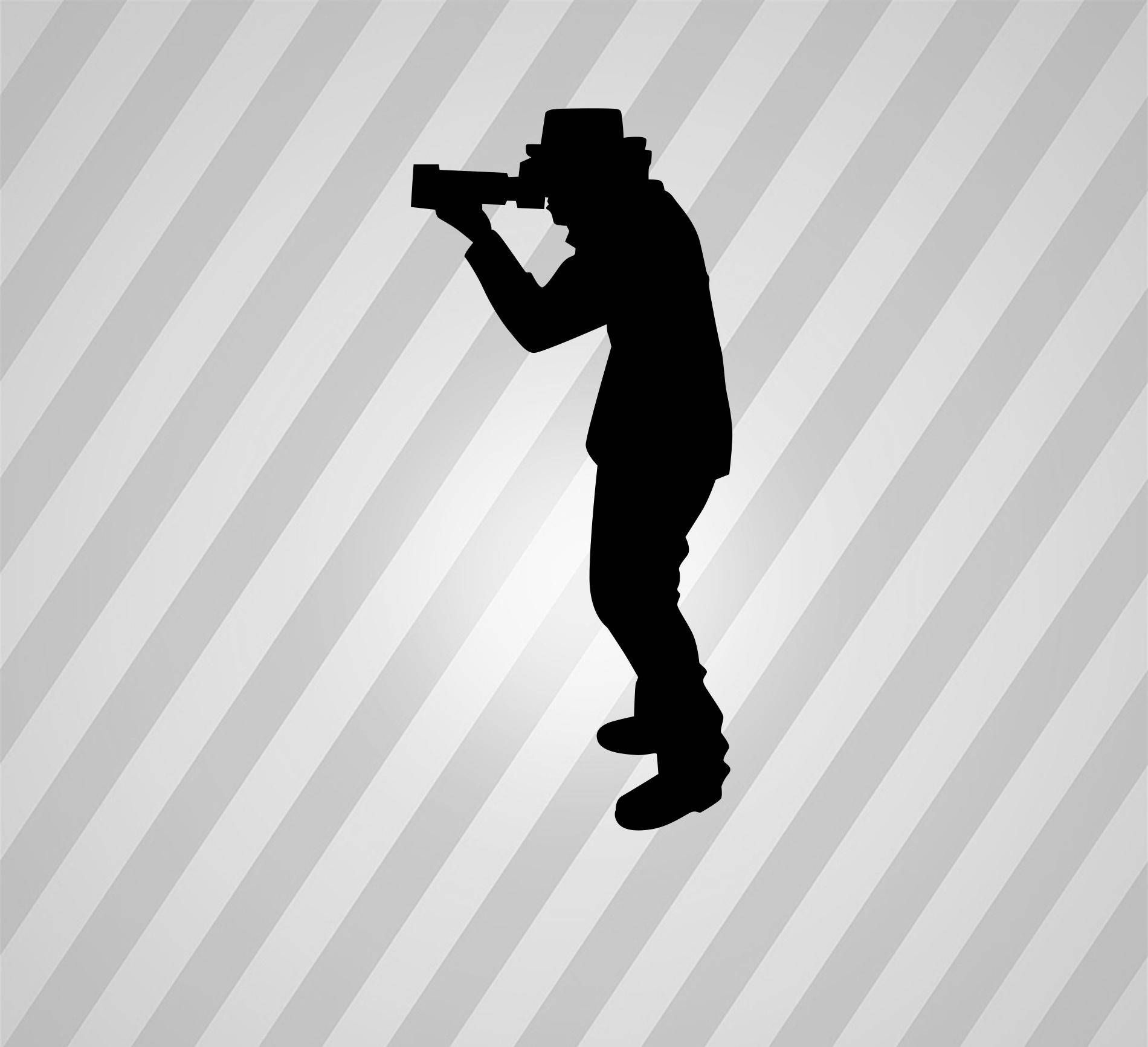 photographer silhouette paparazzi svg dxf eps silhouette rld rdworks pdf png ai files digital cut