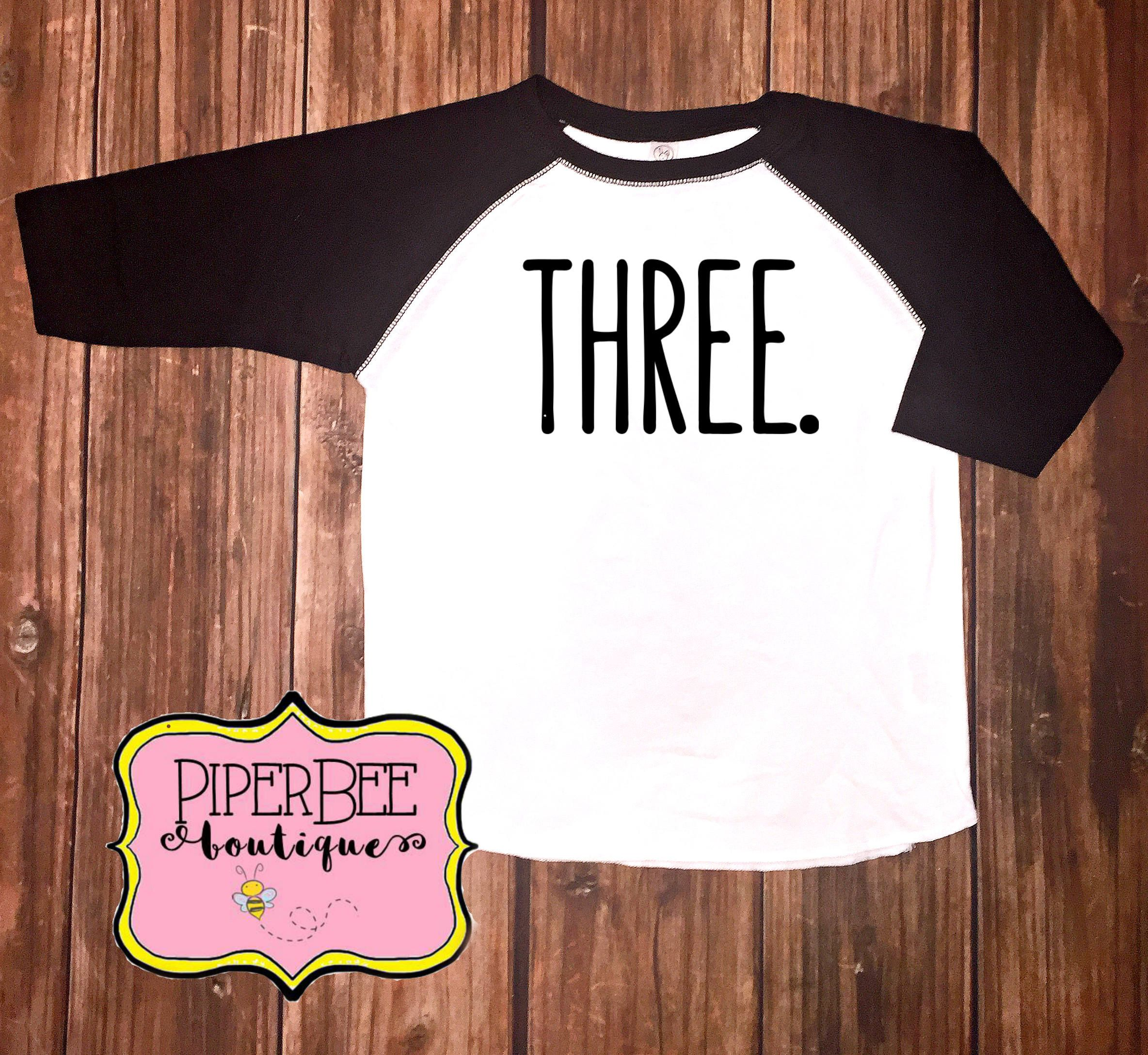 Three Year Old Birthday Shirt Third Boy 3