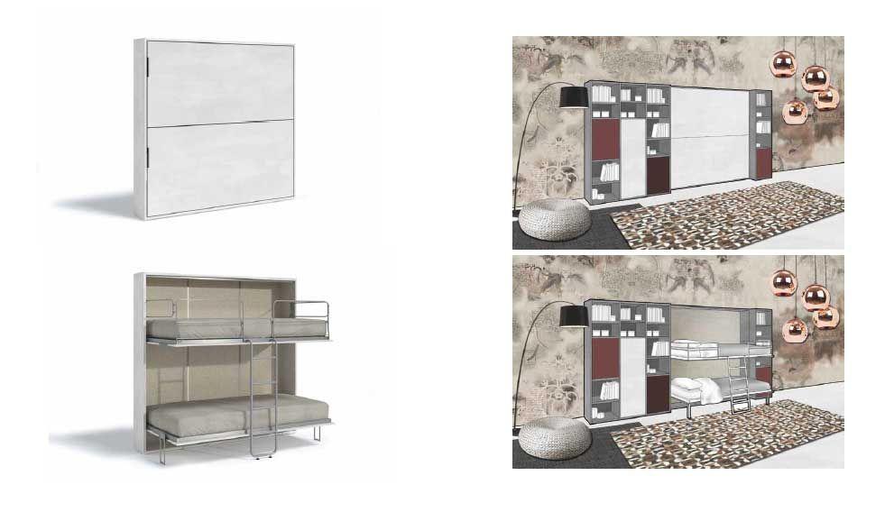 Pin su Letti a scomparsa a castello - foldaway bunk beds