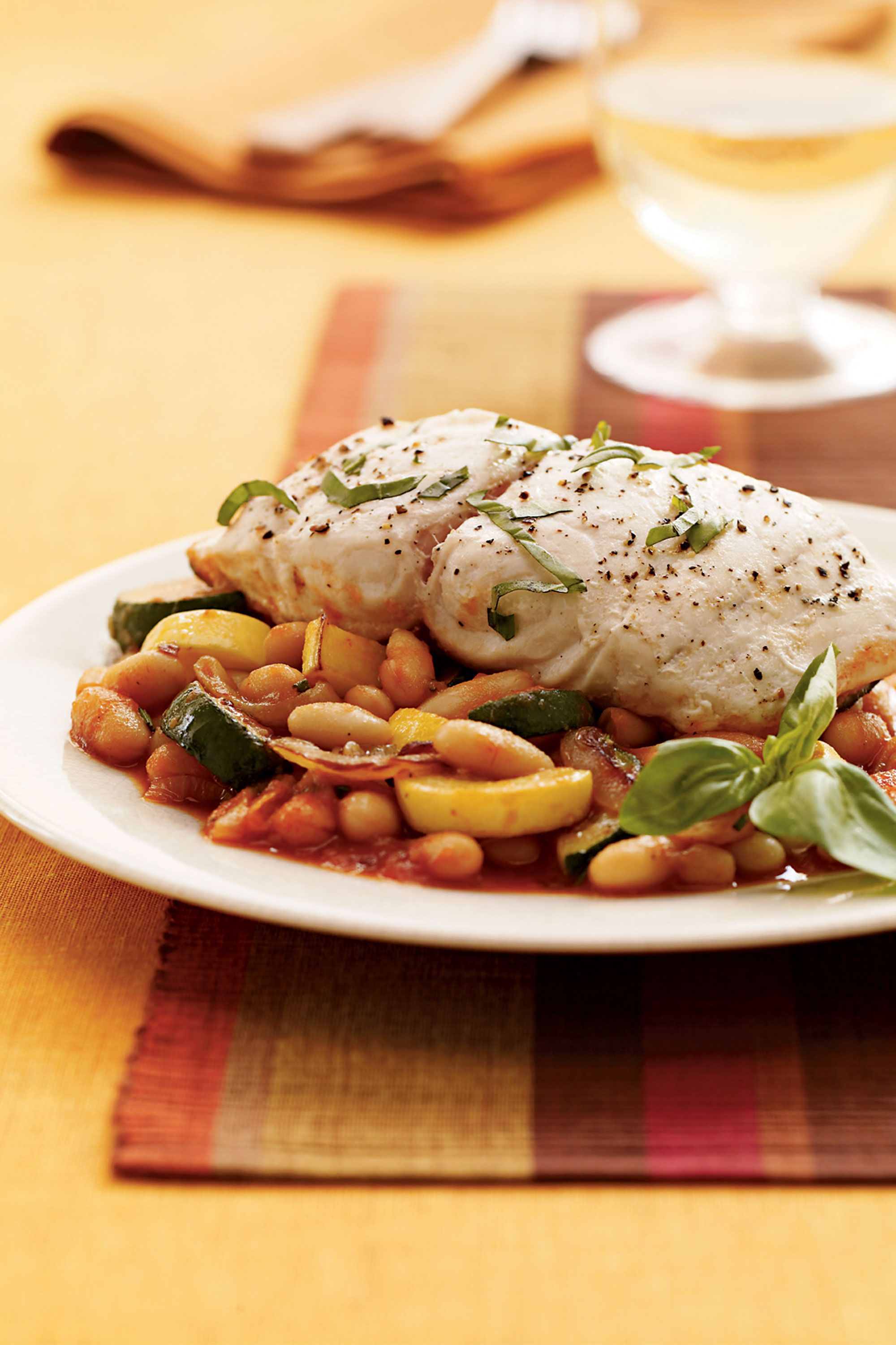 70 heart healthy dinner recipes that dont taste like diet food tuscan bass with squash and beans heart healthy recipe forumfinder Image collections