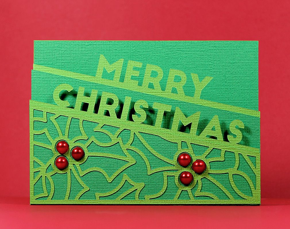 Merry Christmas Edge Card Christmas cards free