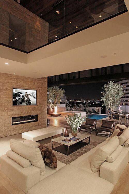 Living room, house, home, interior, design, white, beige, luxury