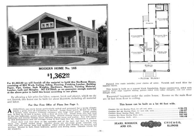 Sears Bungalows, a Sampling from 1911 to 1913: Sears