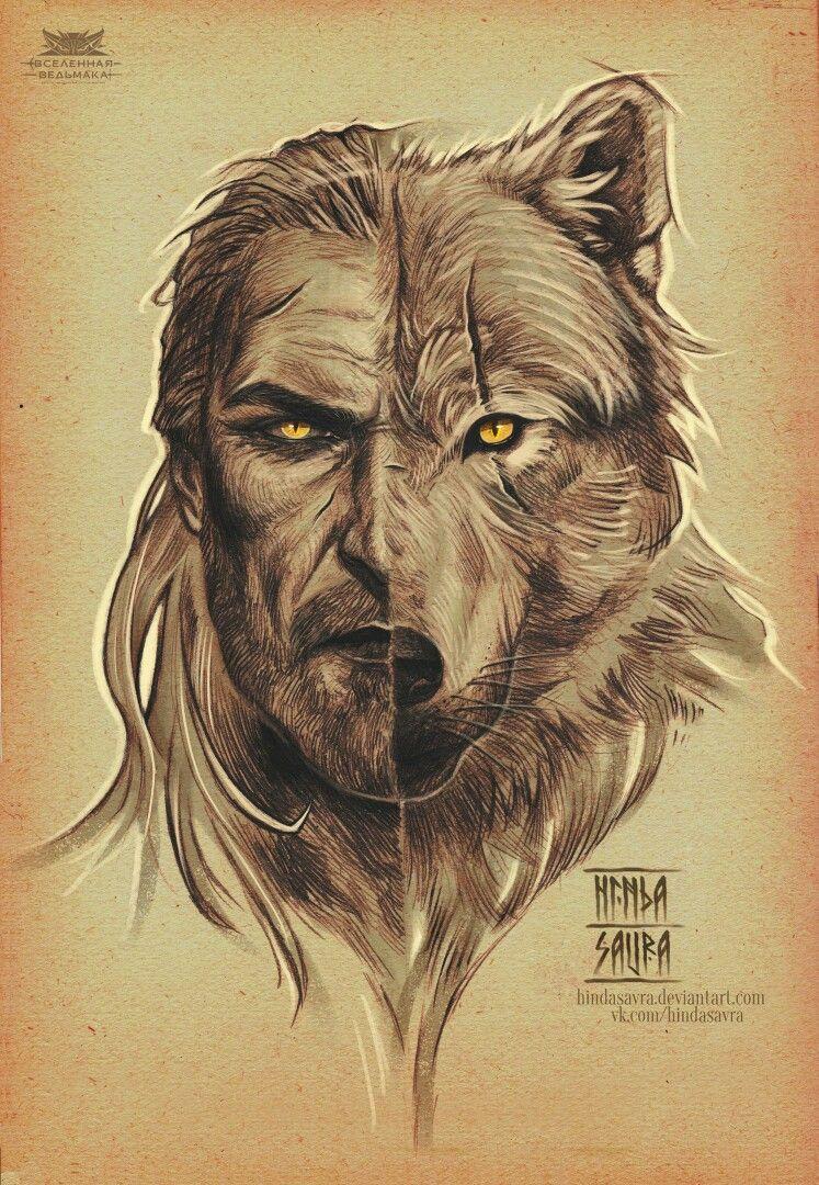The Witcher 3 Loup Garou : witcher, garou, SithyaN7, Witcher, Artwork,, Tattoo,
