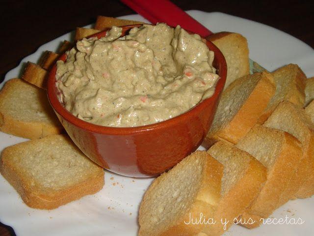 Julia Y Sus Recetas Paté De Mejillones Y Palitos De Cangrejo Palitos De Cangrejo Aperitivos Salados Comida