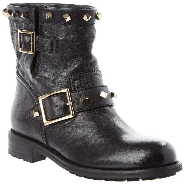 jimmy choo jimmy choo youth leather biker boot with cube studs rh pinterest com
