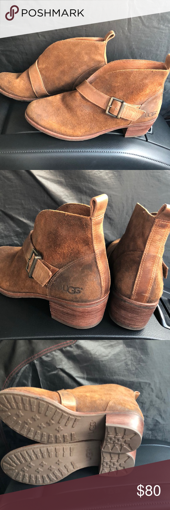 67e2ecfea4e UGG Wright Belted Ankle Boots NWOT Ugg Ankle booties Suede. Brown ...