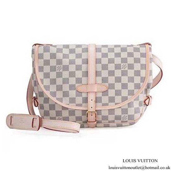 30c0abcdc360 Louis Vuitton N48202 Saumur Crossbody Bag Damier Azur Canvas