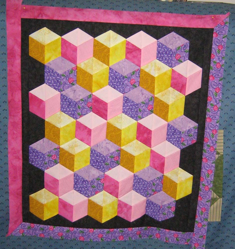 Tumbling Blocks Baby Quilt Pattern.Free Tumbling Block Quilt Pattern Free Patterns Quilting