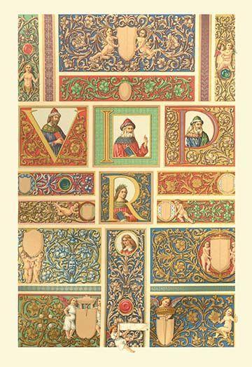 Renaissance Design with Letters | Renaissance, House art and Vintage art