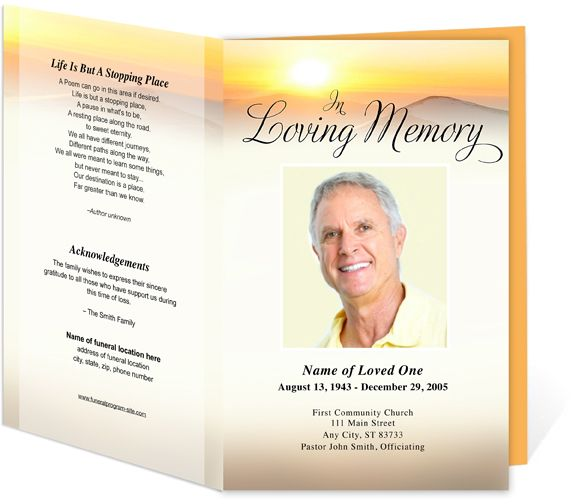 Funeral Programs Summit Bifold Funeral Templates for a funeral - free funeral program templates download