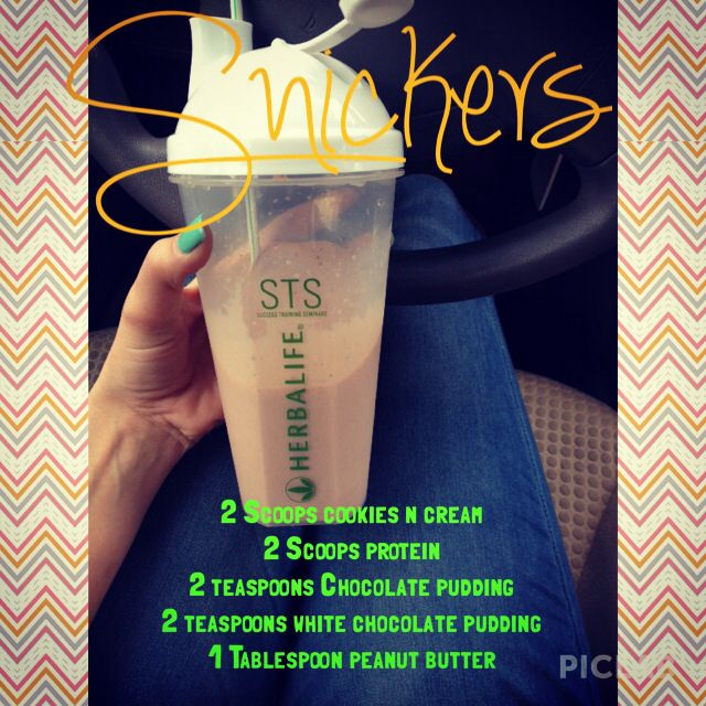 Herbalife Snickers Shakere Recipes Check Out My Website Www