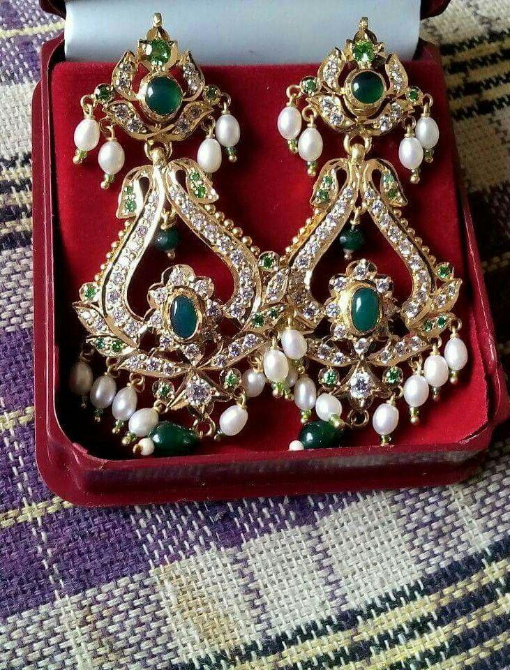 Setting Earring By Riya Kanwar Rajputi Jewellery Royal Jewelry