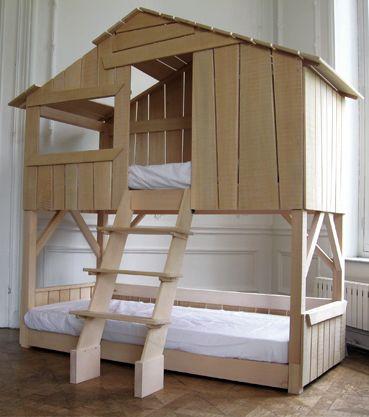 Kinderbett baumhaus selber bauen  lit cabane | Bedrooms | Pinterest