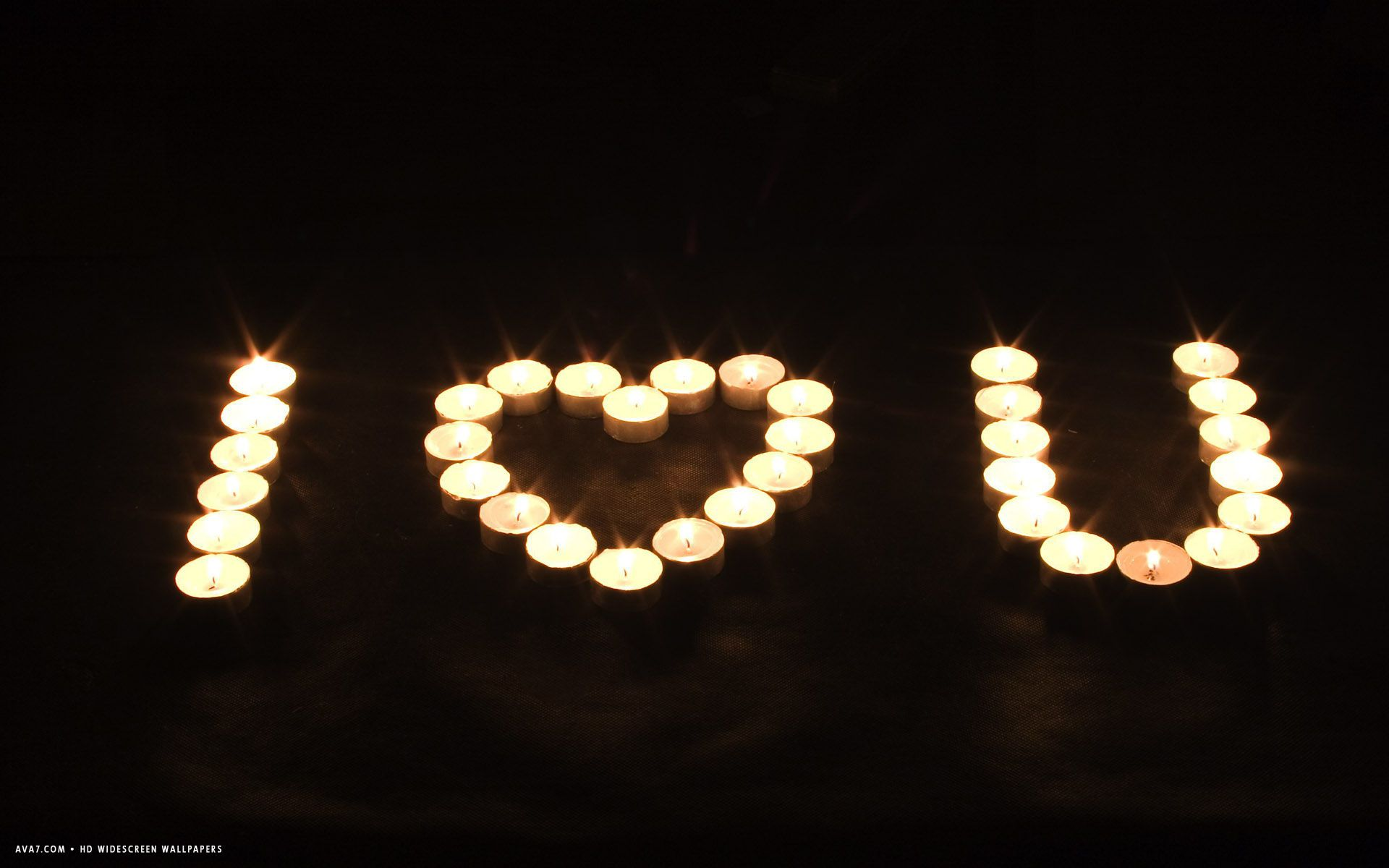 I love u burning candles candle light night hd widescreen wallpaper
