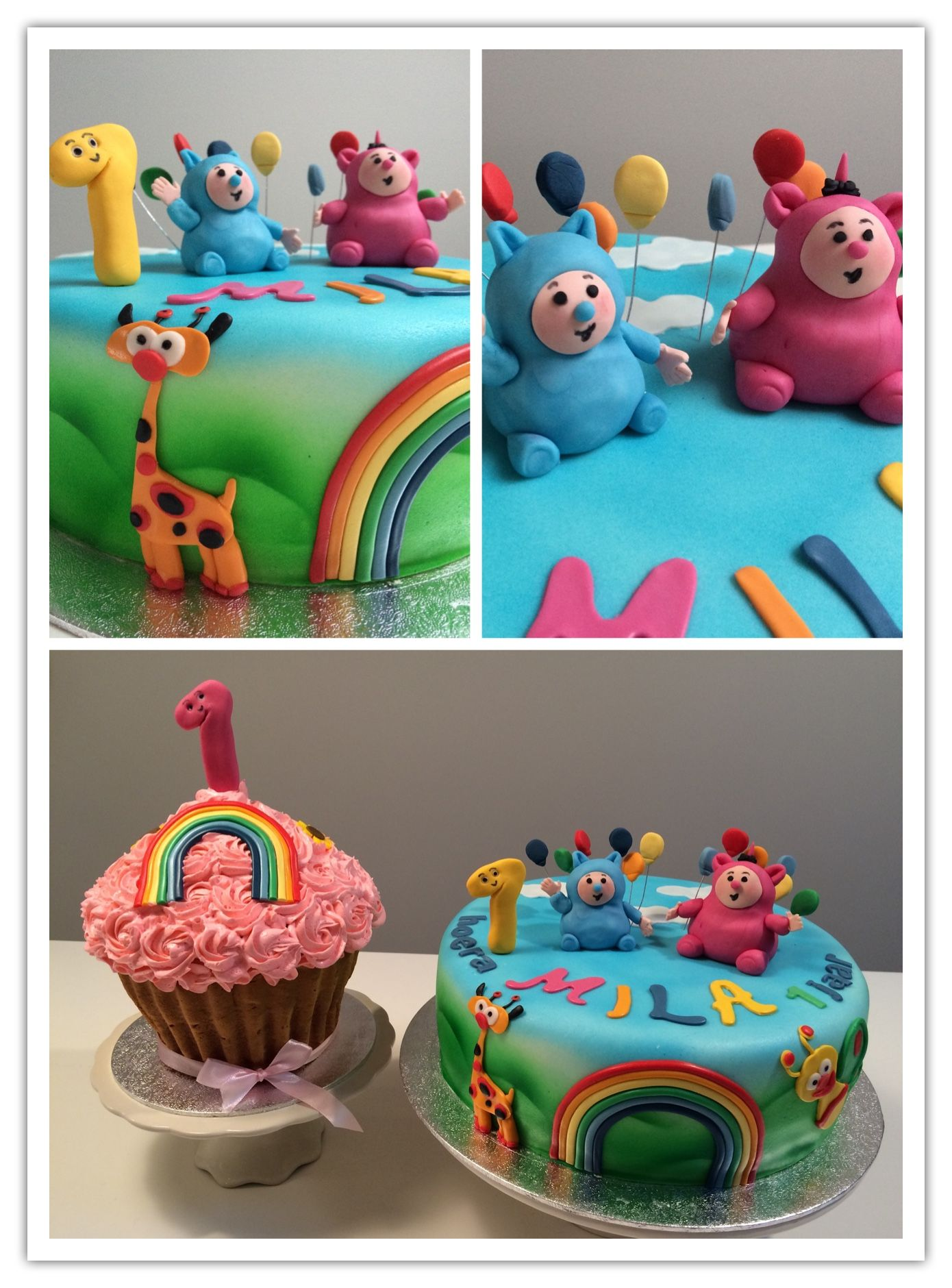 Baby Tv Billy En Bam Bam Taart Moonsbakery Pinterest Tvs