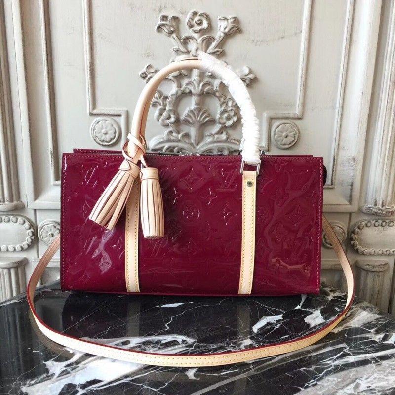 50569f00074 Louis Vuitton M96052 Neo Triangle Monogram Vernis Leather Magenta ...
