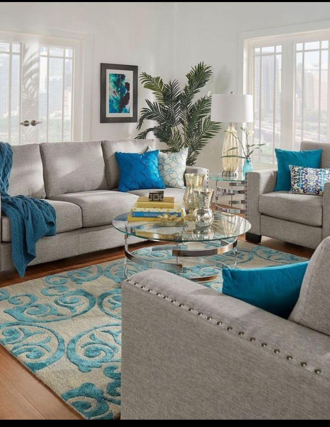 Turquoise living room decor image by Sylvia Sanchez on ...