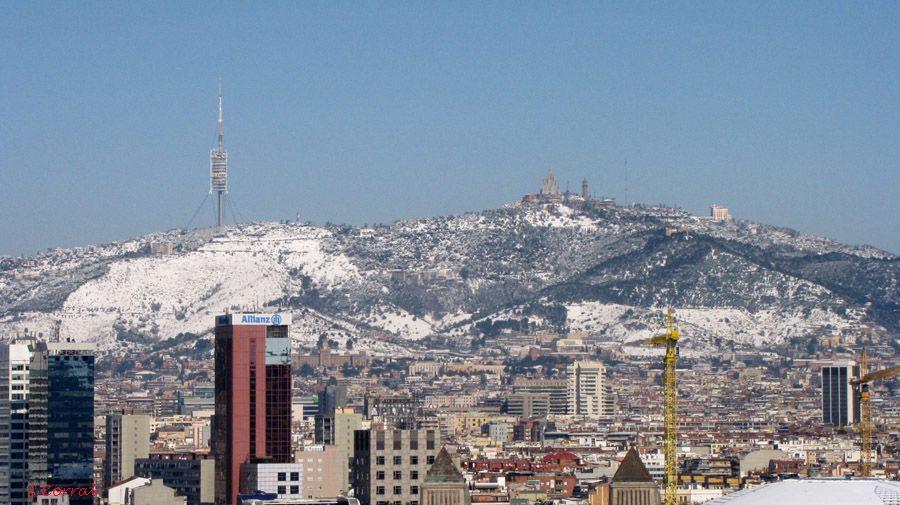 Gran nevada a Barcelona el 8 de Març del 2010
