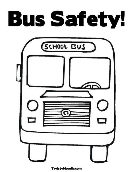 Bus Safety Coloring Page Preschool Coloring Pages, Kindergarten Coloring  Pages, Valentine Coloring Pages