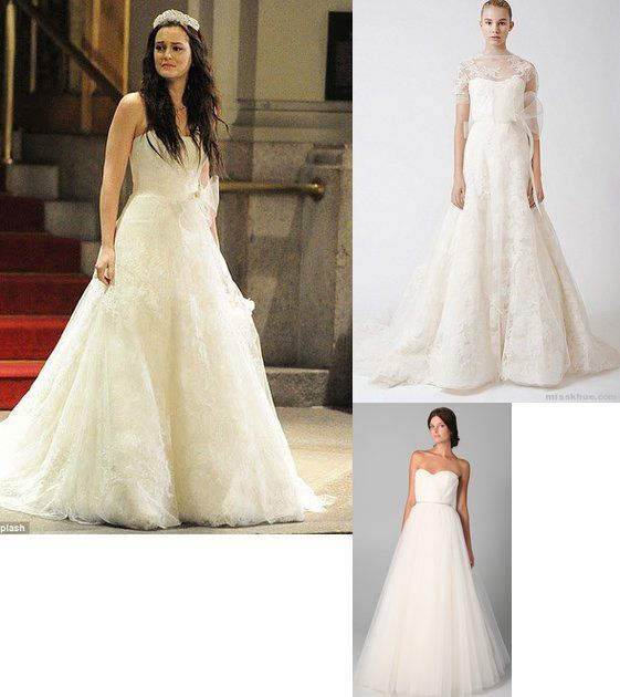 Blair in Vera Wang Ester Dress (lace top removed) Bottom dress Reem ...