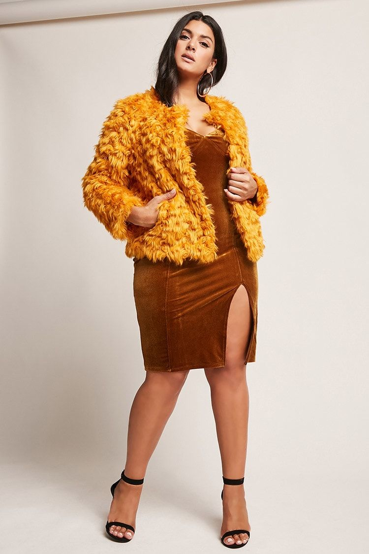 5dd1c899131b1 Product Name Plus Size SHACI Faux Fur Jacket