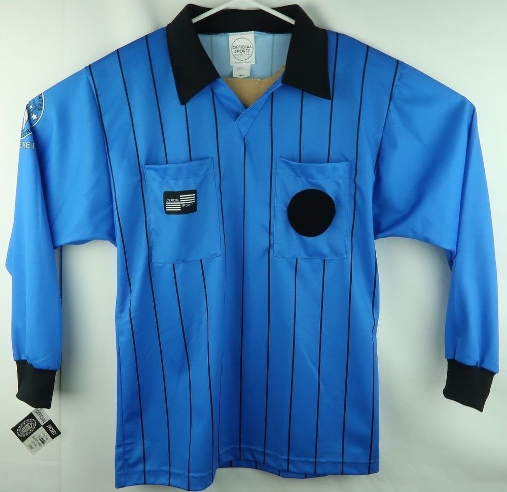 50638f633cf Official Sports US Soccer Referee Uniform Long sleeve Shirt Men s Small Blue  (eBay Link)