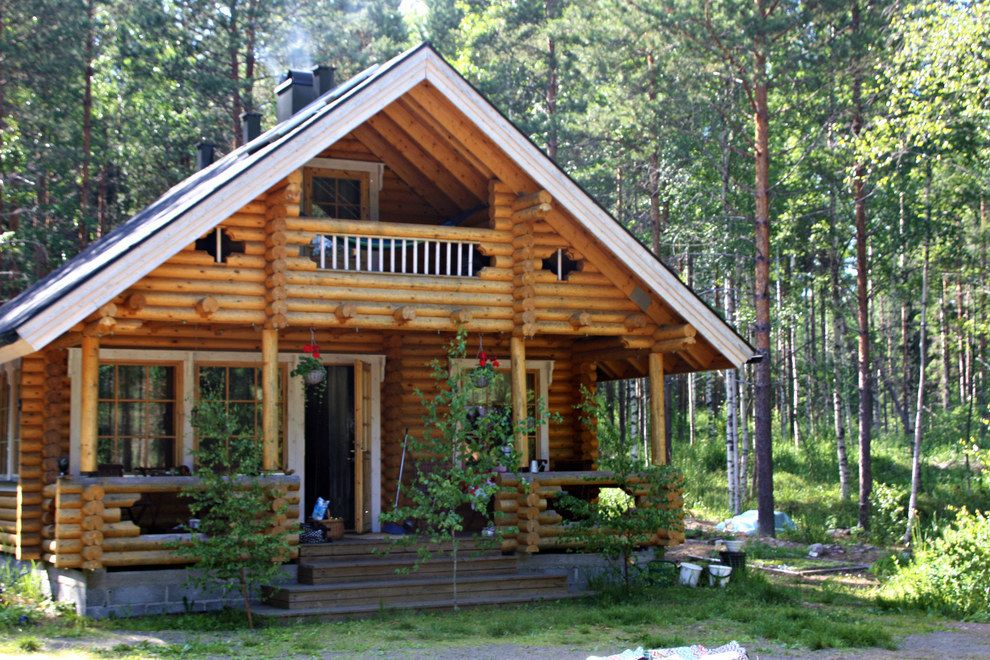 Because Finns Spend Their Summers In Wooden Cabins That Look Like This Wooden Cabins Finland Cabins In The Woods
