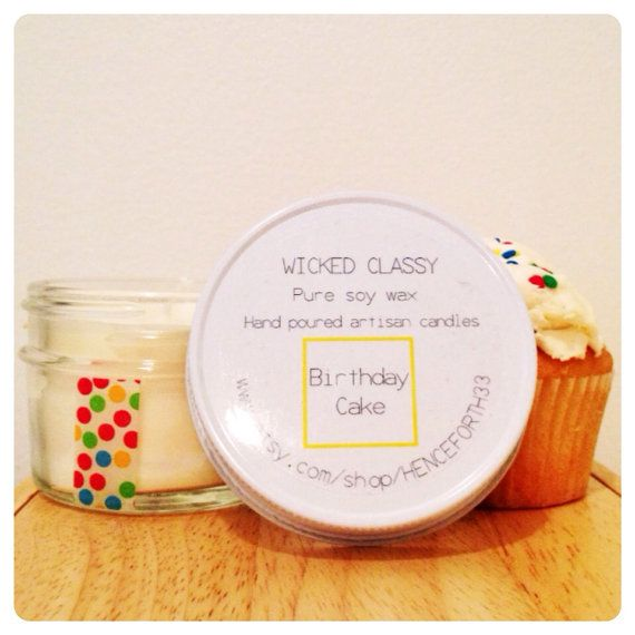 Birthday Cake Scented candle birthday gift buttercream and cake