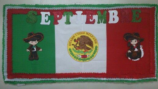 Listo para recibir el mes patrio classroom for Puertas decoradas 16 de septiembre