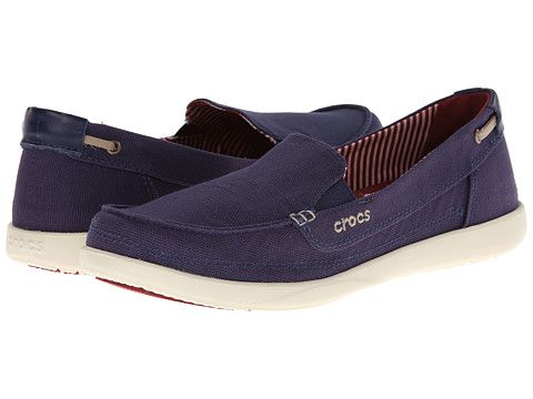 4b448ad9c66 Crocs Walu Canvas Loafer Nautical Navy Stucco - Zappos.com Free Shipping  BOTH Ways