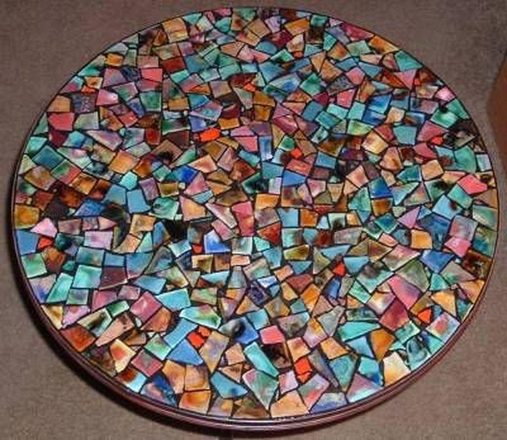 mosaic kitchen table patterns square  mosaic tiles diy