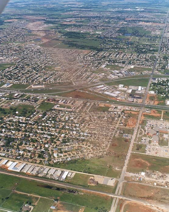 Tornado Path Tornado Damage Moore Oklahoma Natur