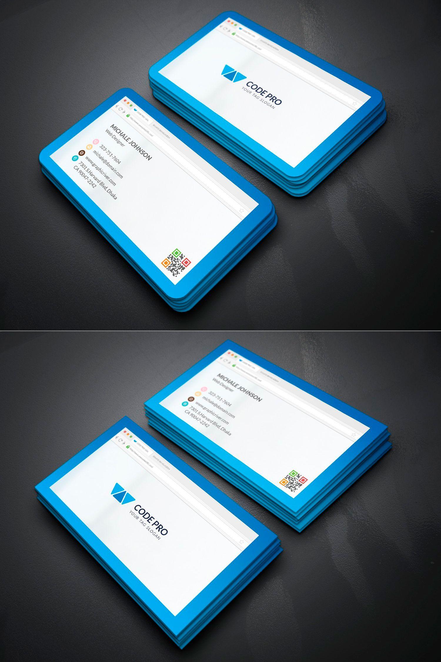 Web developer business card template psd business card templates business card templates reheart Choice Image